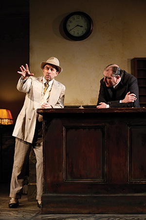 Richard Schiff as Erie Smith and Randall Newsome as Night Clerk in the Shakespeare Theatre Company's production of 'Hughie', directed by Doug Hughes. Photo by Carol Rosegg.