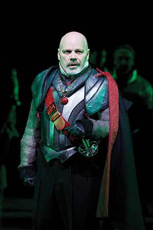 Steve Pickering as Wallenstein in the Shakespeare Theatre Company's production of 'Wallenstein', directed by Michael Kahn. Photo by Scott Suchman.